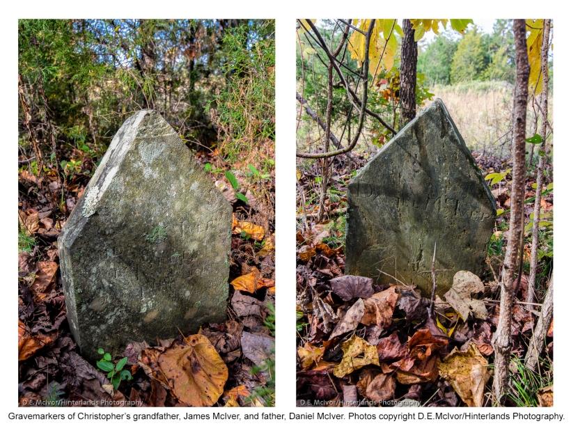 James & Daniel McIver gravemarkers
