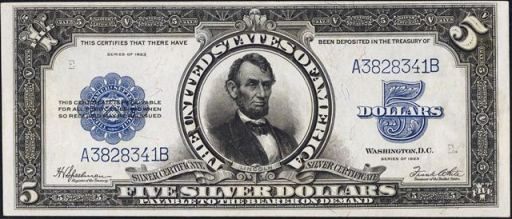 1920s-five-dollar-silver-certificate
